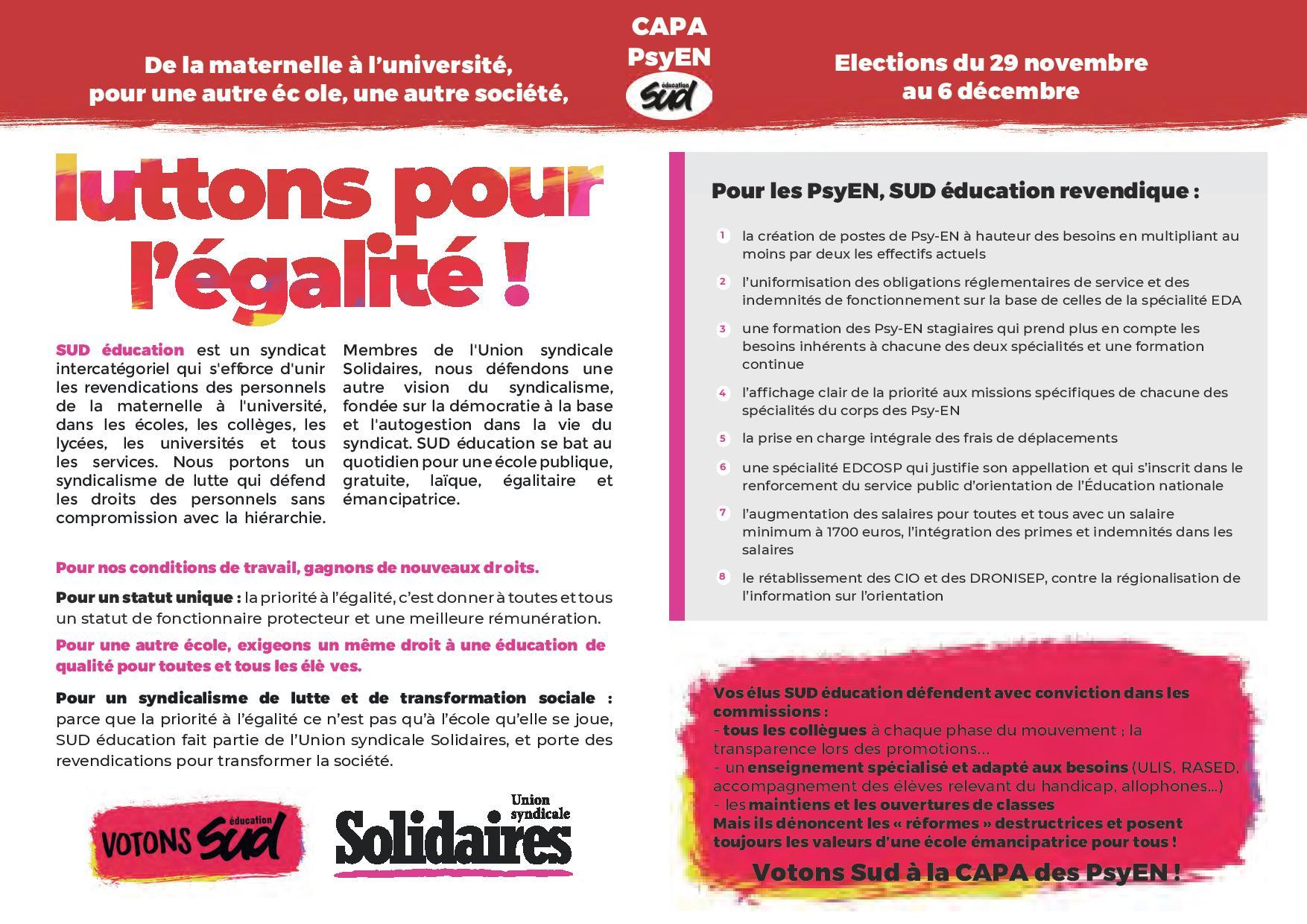 Sud Education Calvados Syndicat De Lutte Et De Transformation Sociale