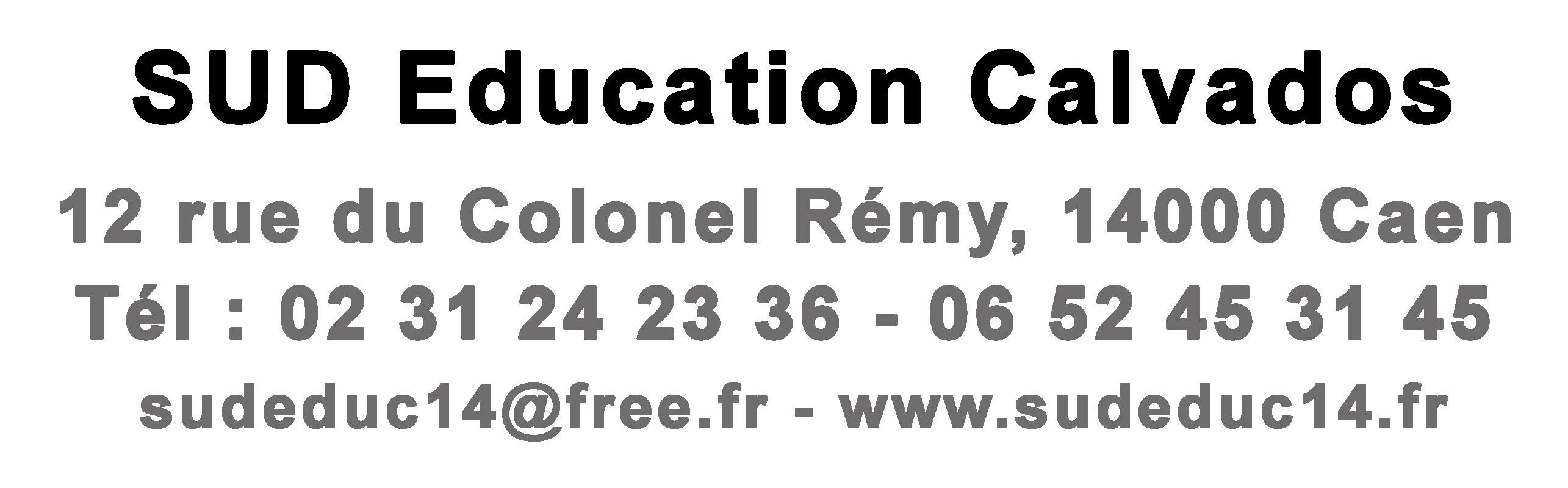 Coordonnées SUD Education14