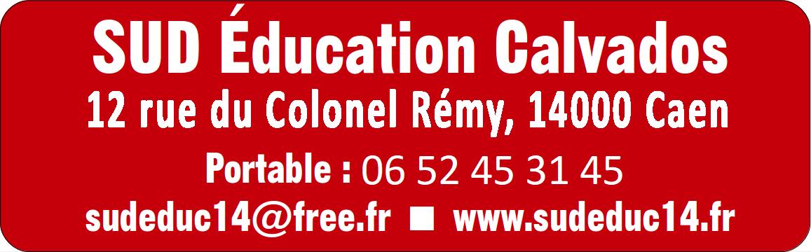 SUD Education Calvados - Syndicat de lutte et de transformation sociale