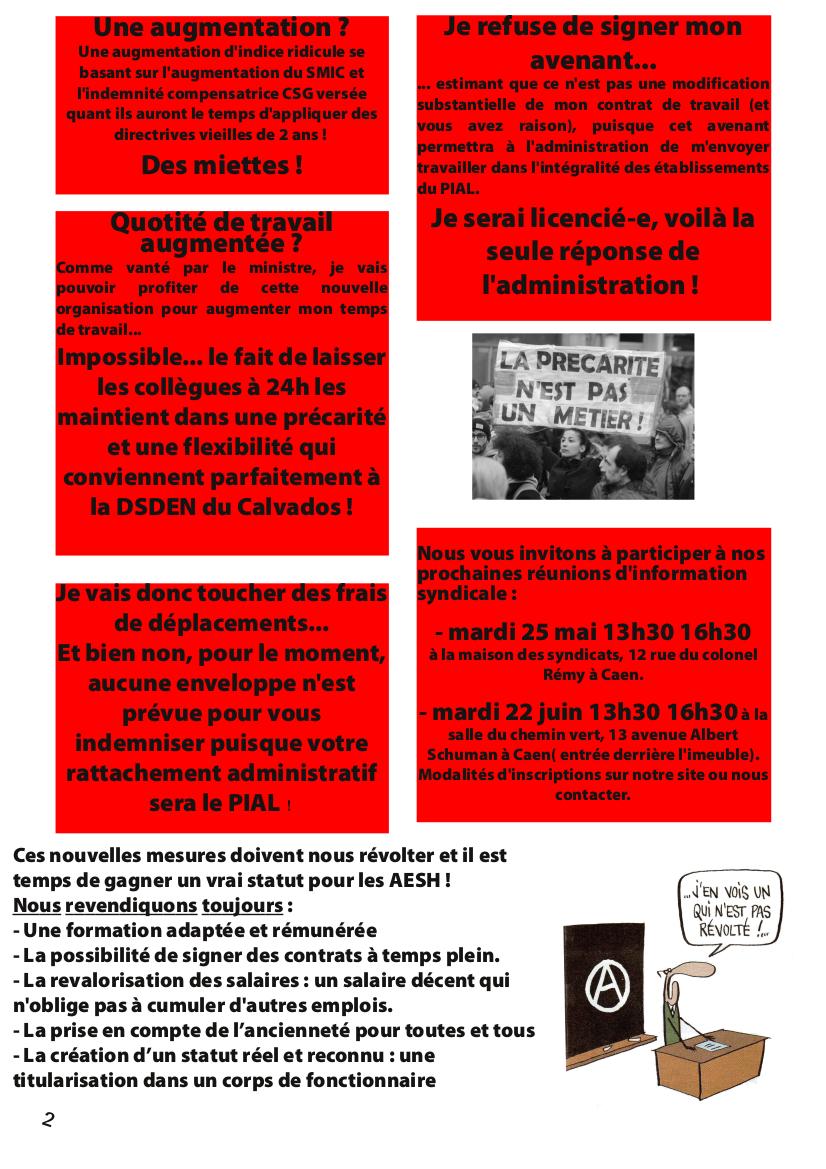 Réunion d'information syndicale AESH 2021 SUD Education Calvados 2020